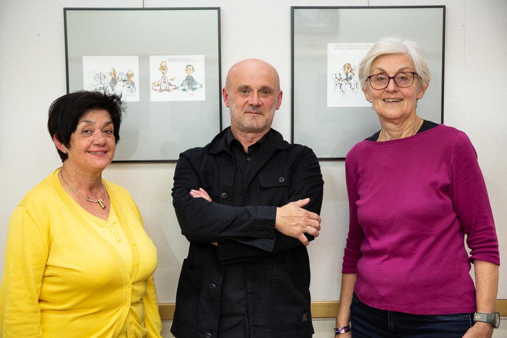 Künstler HÖRBST mit Maria Hackl und Heidi Fabits